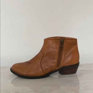 Cognac Brown Ankle Boots